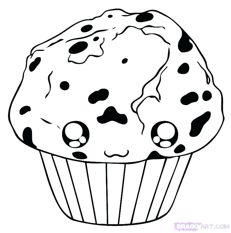 781x787 Blueberry Muffin Coloring Pages Muffin Coloring Pages Blueberry