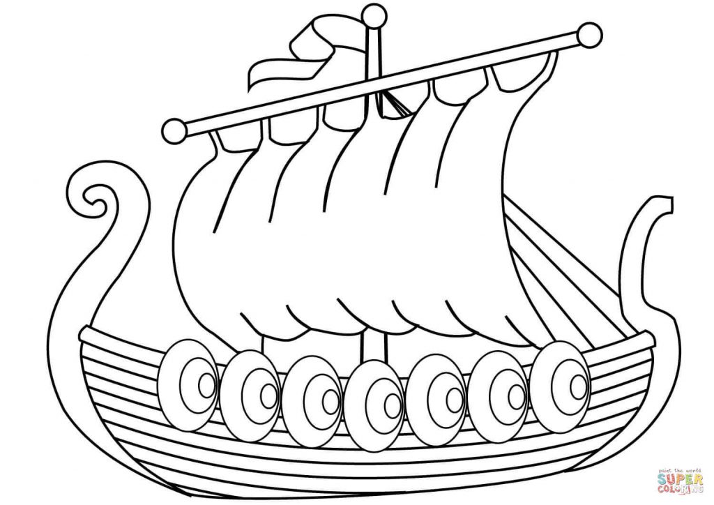 1024x724 Unlock Viking Pictures To Colour Boat Drawing At Getdrawings Com