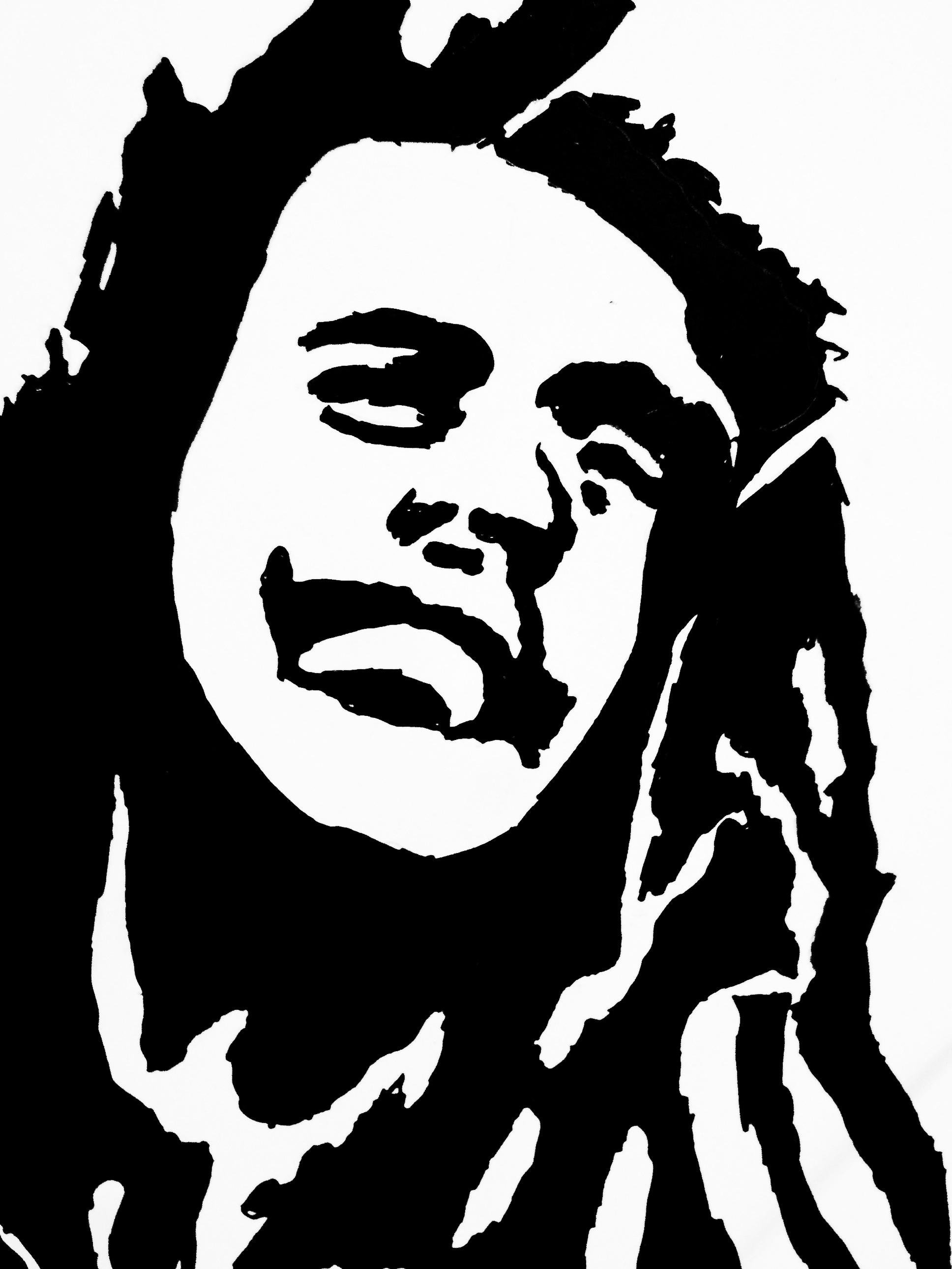1936x2581 Bob Marley Black And White Drawing Bob Marley Graffiti Stencil Bob