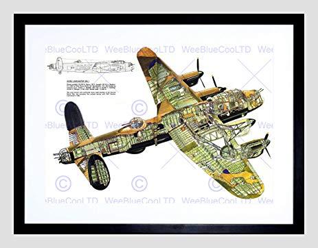 463x362 War Drawing Plane Bomber Avro Lancaster Cutaway Wwii