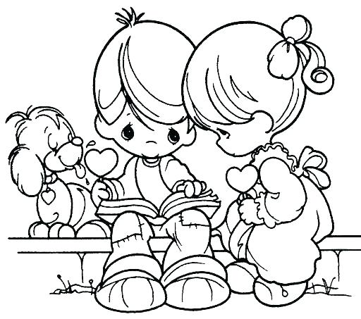 512x453 Precious Moments Valentine Coloring Pages