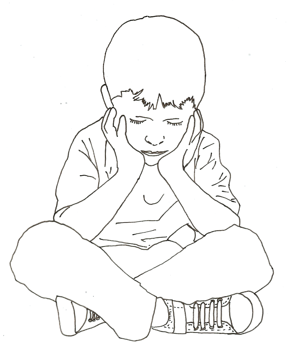 952x1128 Boy Sitting Drawing Boy Sitting Drawing At Getdrawings Free