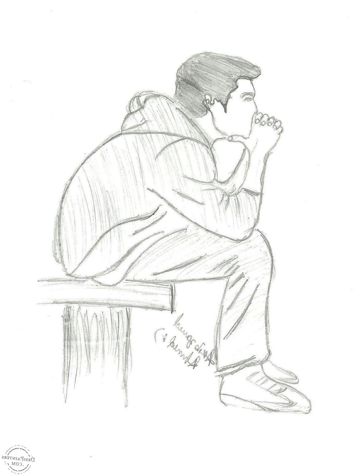 1168x1553 Boy Sketch Pic With Alone