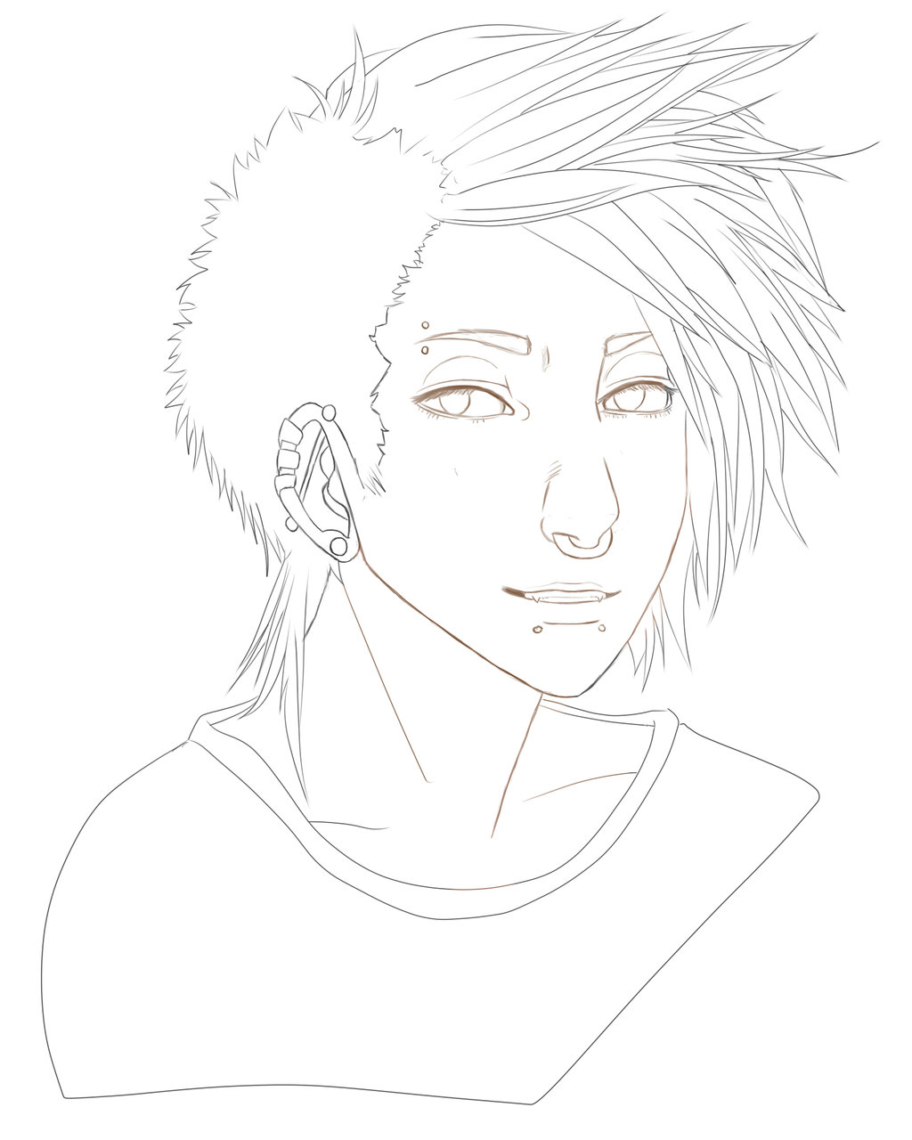 1024x1280 Semi Realistic Boy Sketch Wip By Todorut