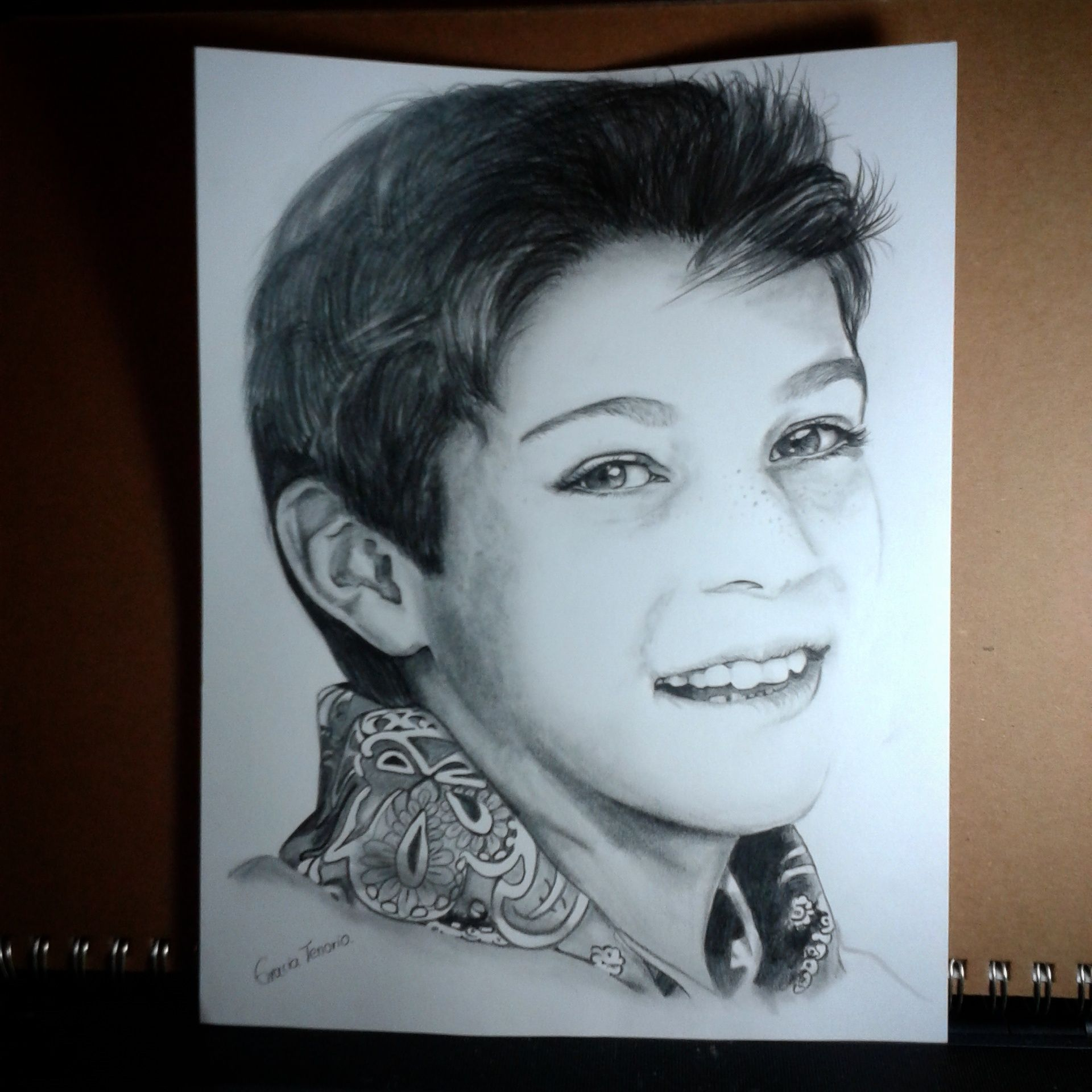 1920x1920 Custom Fine Amp Realistic Art Pencil Portrait Of A Boy Drawing