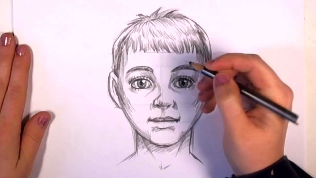 1280x720 How To Draw Realistic Looking Anime Kid Baby Boy Face Video