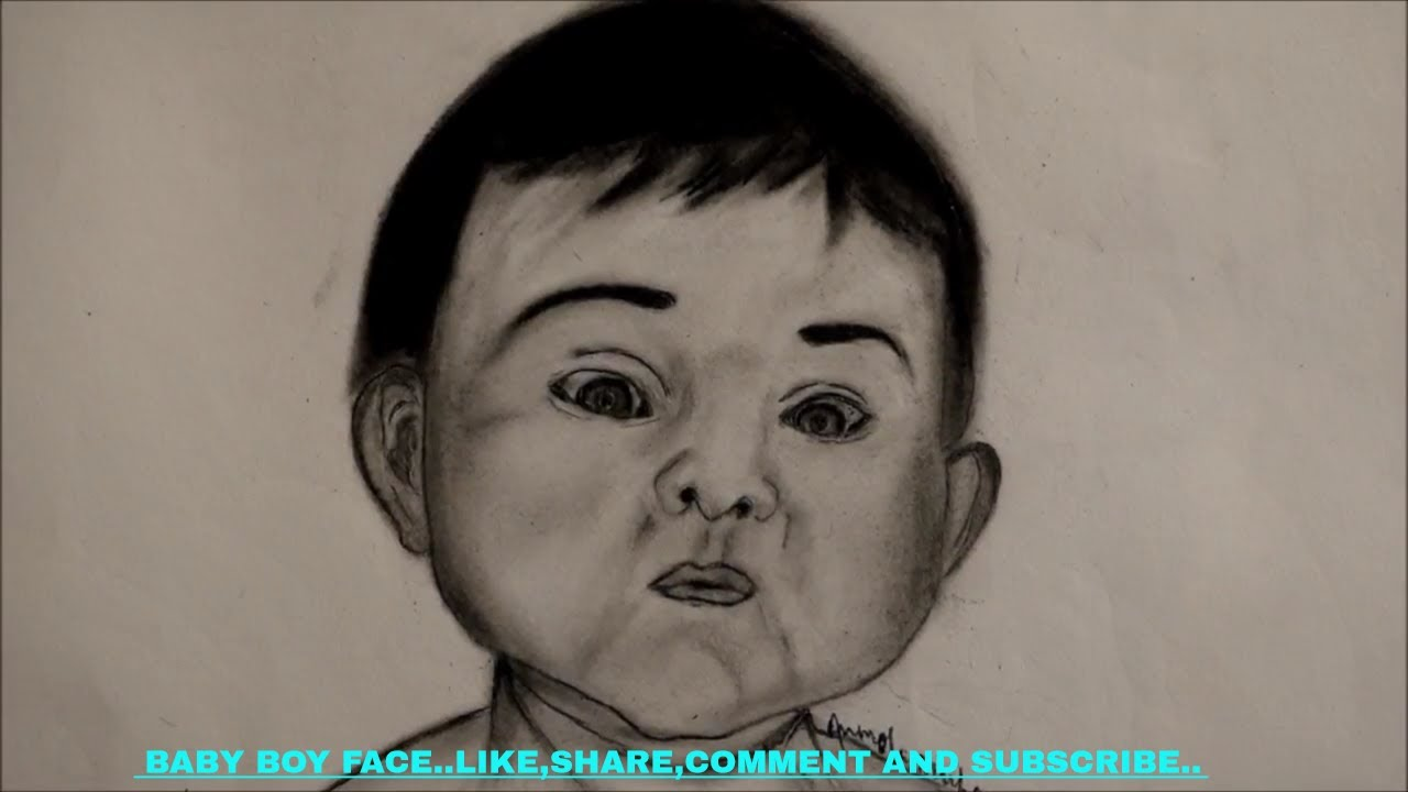 1280x720 Realistic Cute Baby Facehow To Draw A Cute Baby Boy Face