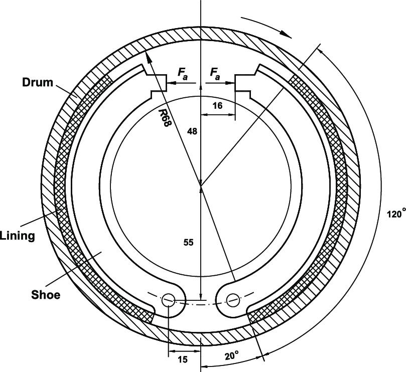 809x742 Double Long Shoe Internal Drum Brake. Download Scientific Diagram