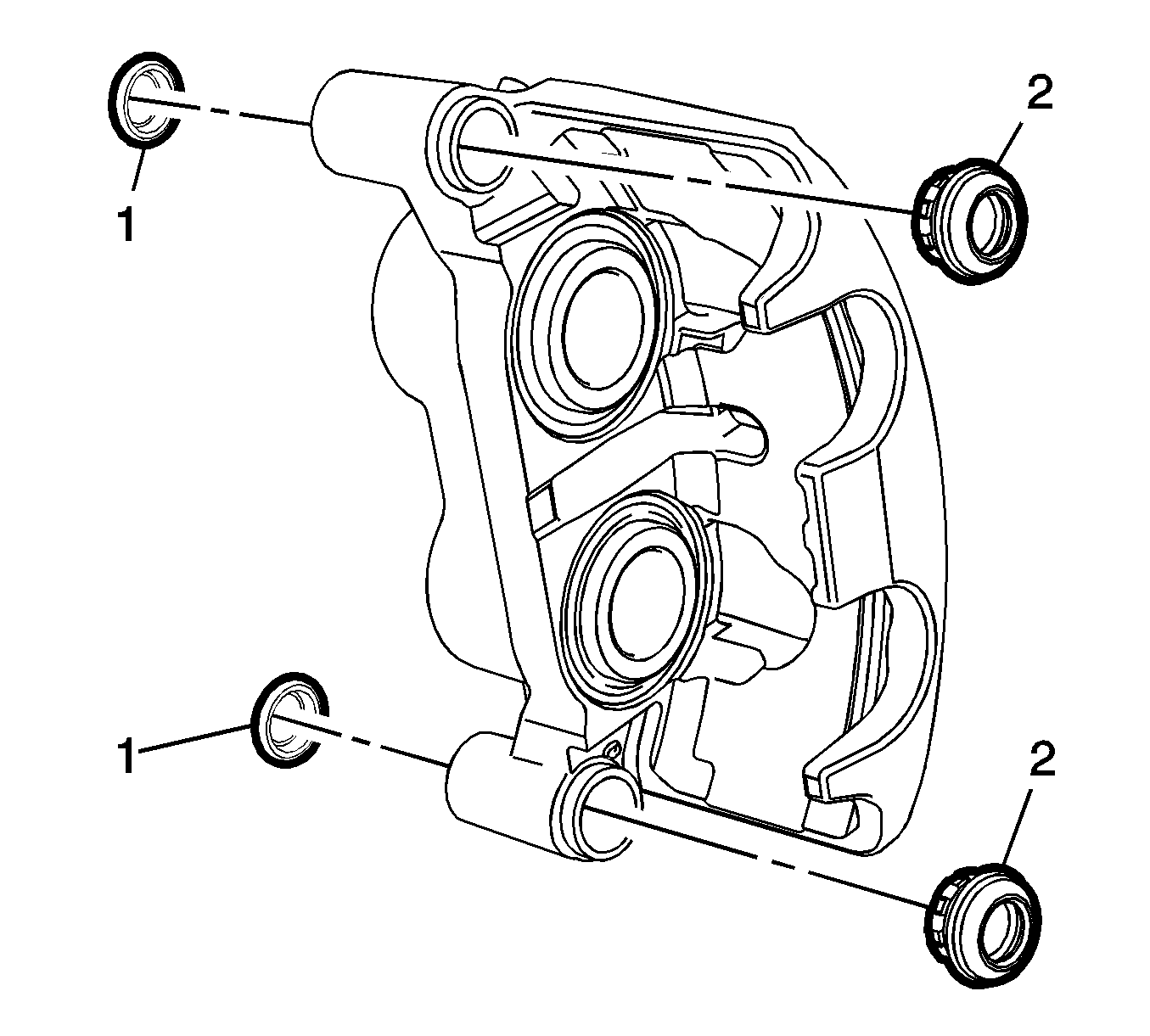 1355x1221 Front Brake Caliper Hardware Replacement (J90 J95 J96) Disc Brakes