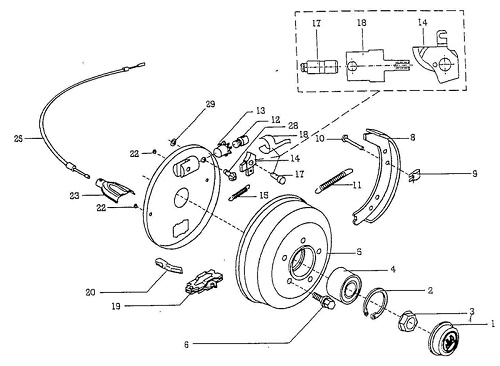 500x366 Bpw Brake Shoe Axle Repair Kit