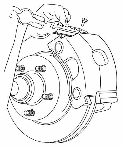 400x481 Line Drawinging Illustrating How To Install A Disc Brake Caliper
