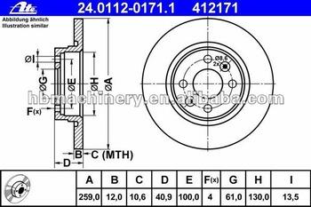 350x233 Disc Brake Rotor Brake Parts 7701208252 Dacia Lagon Auto Spare