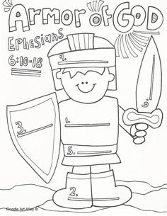 236x305 Dress Me Up In The Armor Of God Eph 6 Printable, Cut Amp Color
