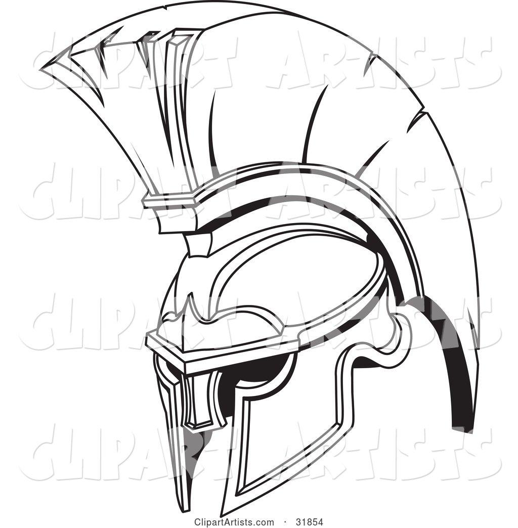 1024x1044 Vector Clipart Golden And Red Spartan Or Trojan Helmet Part
