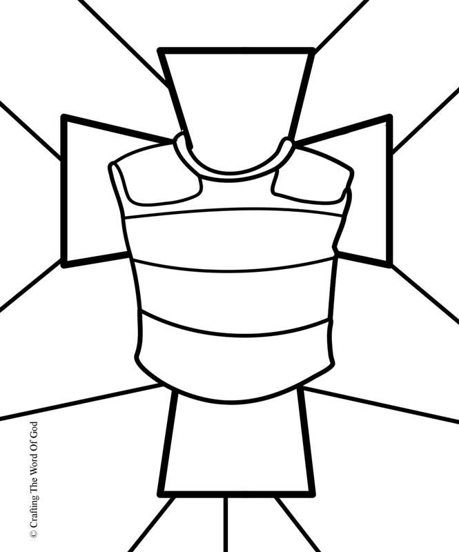 665x800 Breastplate Righteousness Coloring Page Breastplate