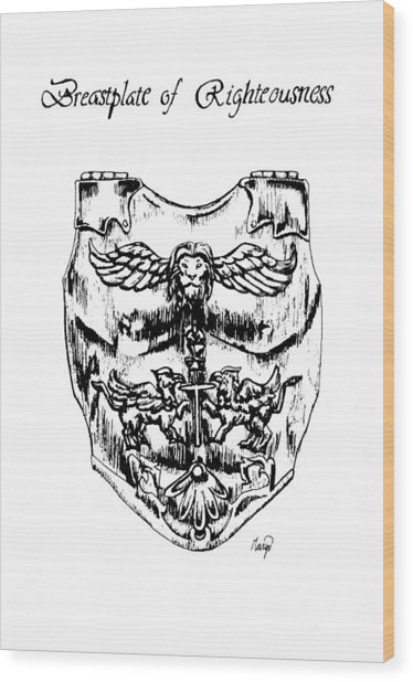 374x618 Breastplate Of Righteousness Drawing By Maryn Crawford