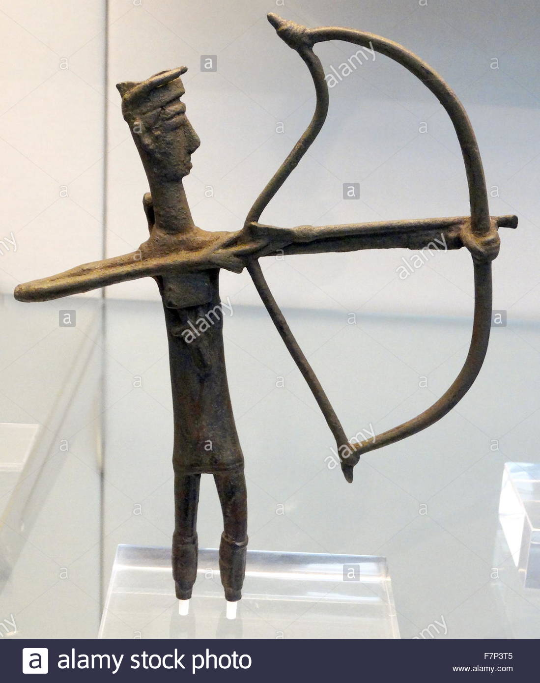 1099x1390 Bronze Votive Figure Of Archer Drawing His Bow, Wearing