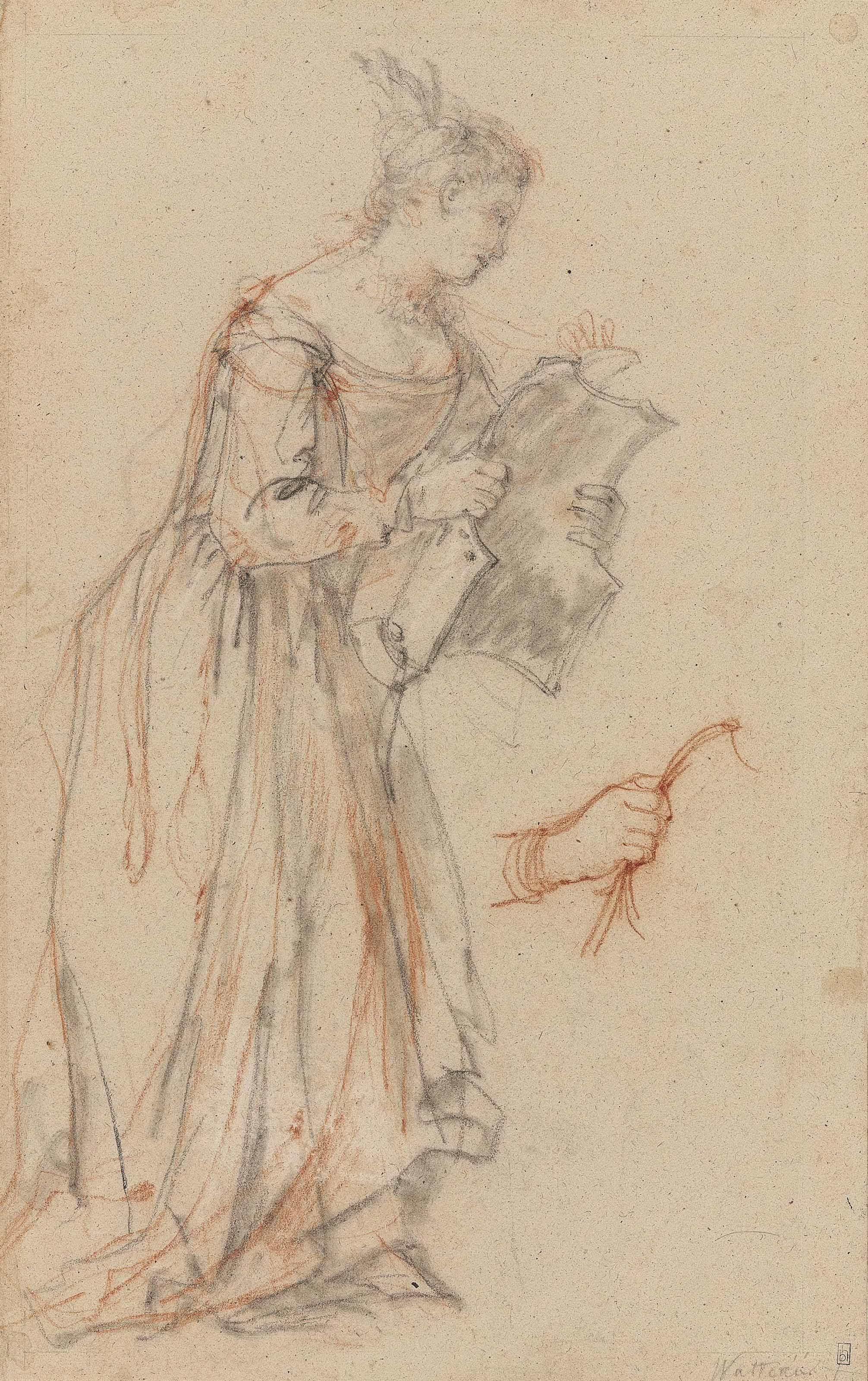 2012x3200 Charles Joseph Natoire 1700 1777 Castel Gandolfo) A Woman