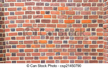 450x284 Background Of Red Brick Wall Pattern Texture. Stock Illustration