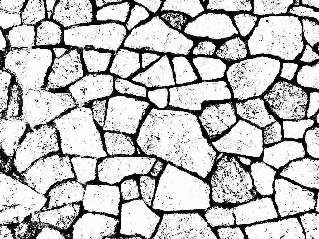 1024x768 Broken Brick Wall Drawing