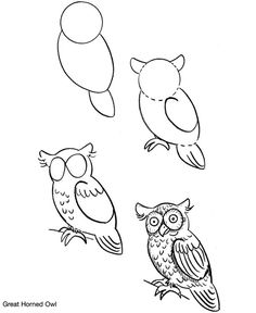 236x288 How To Draw A Bird, Step By Step. (Click To Enlarge, Then Shrink