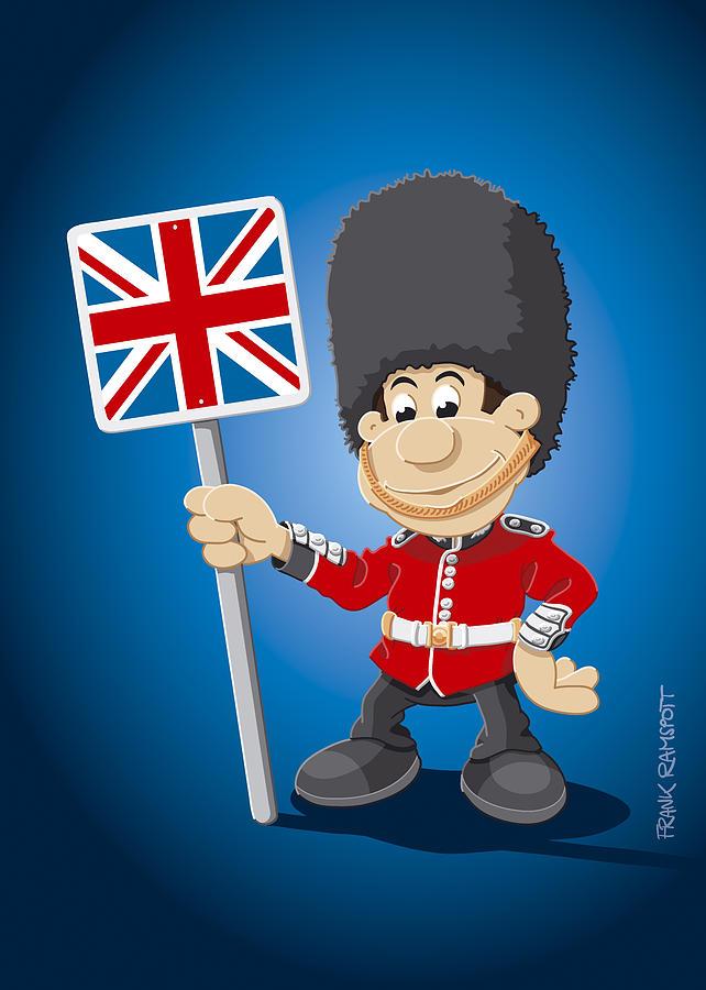 642x900 British Royal Guard Cartoon Man Digital Art By Frank Ramspott