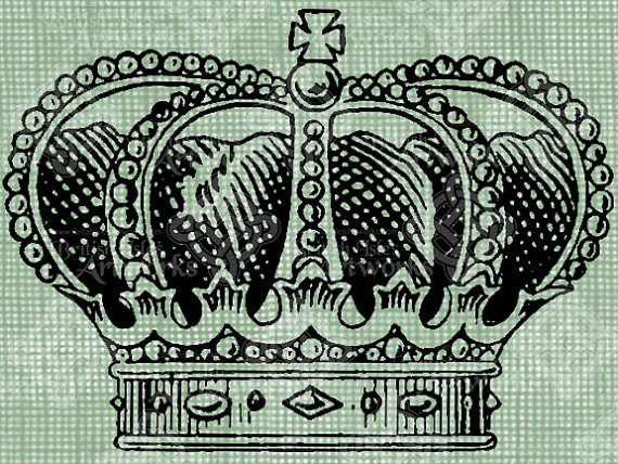 570x428 Digital Download Crown English Royalty, King Queen Royal Headpiece