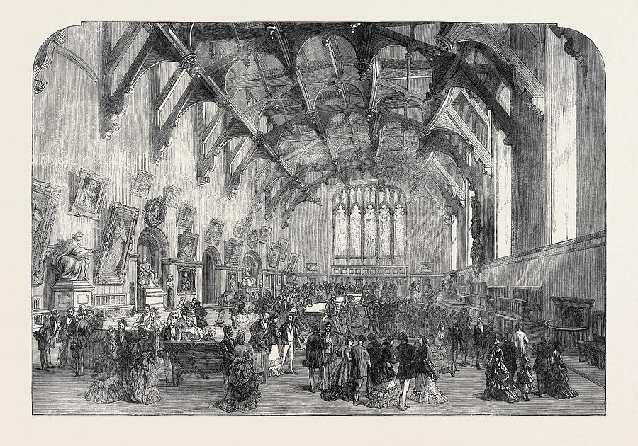 900x630 The British Association At Edinburgh The Great Hall Drawing By