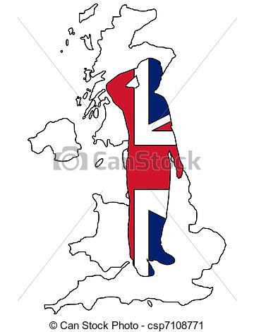 360x470 British Salute Vector Clip Art