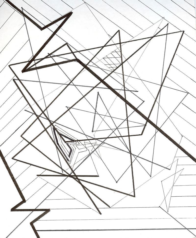 800x972 Abstract Line Art Drawings Original Pencil Drawing Original Female