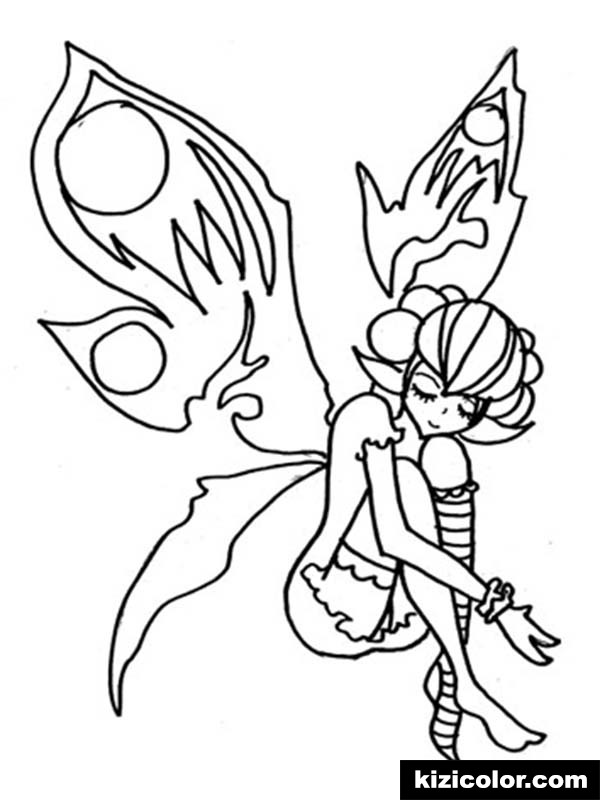 600x800 Fairy With Broken Wings Is Sad Pages