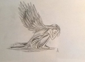 300x220 Broken Wings Drawings Fine Art America