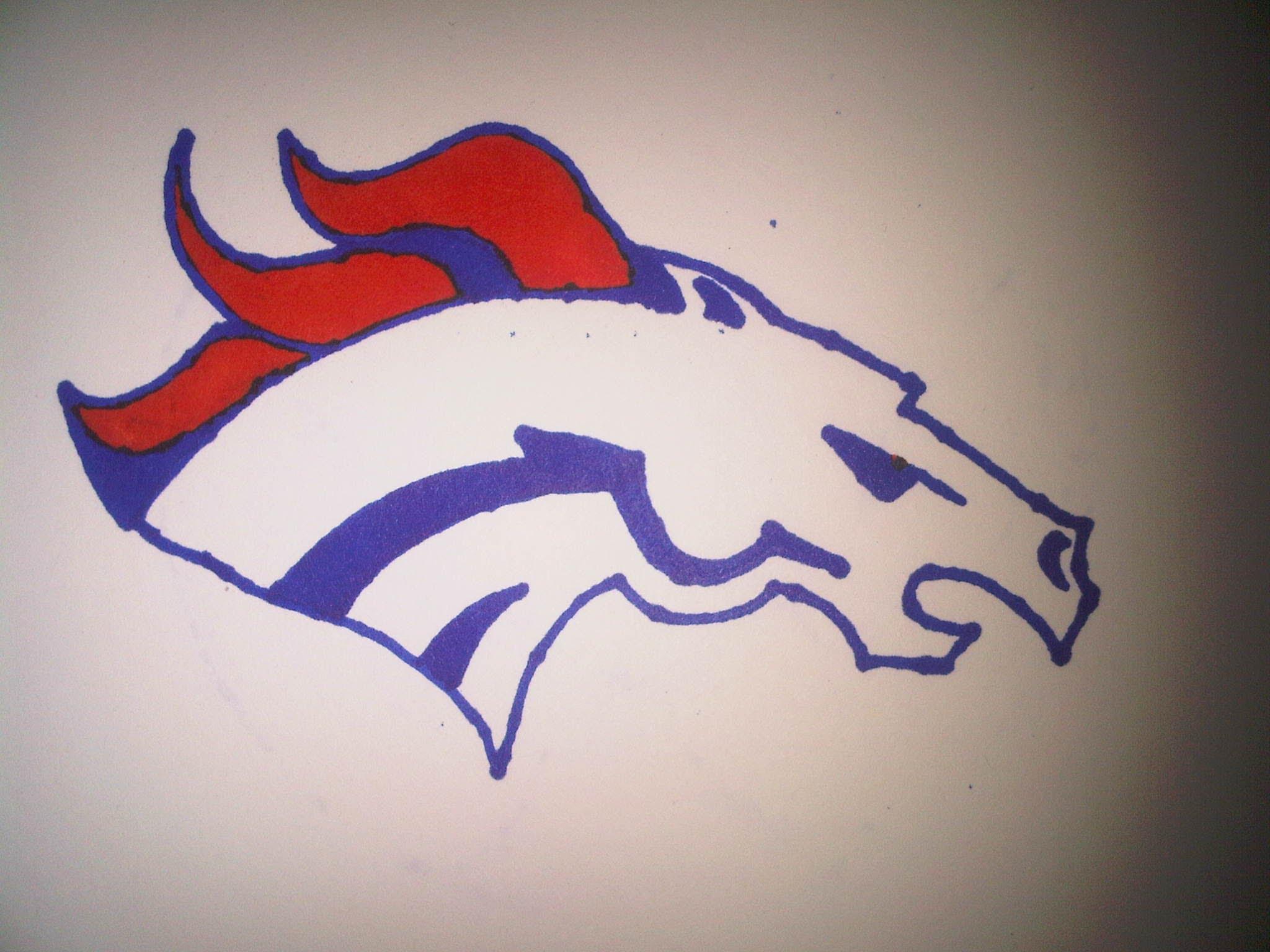 2048x1536 Broncos Logo Drawing How To Draw The Denver Broncos Logo