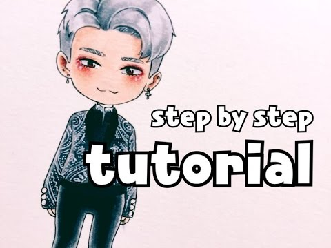 480x360 Bts Jimin Drawing Tutorial (Draw With Florence)