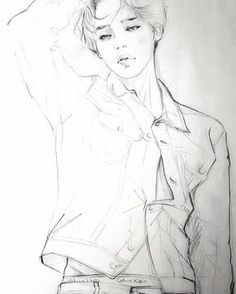 The Best Free Jimin Drawing Images Download From 30 Free Drawings