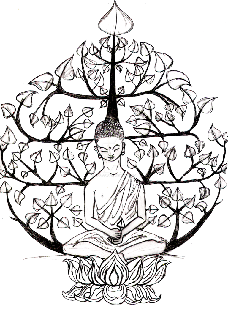 768x1040 Buda Bodhi Tree By Cus Co