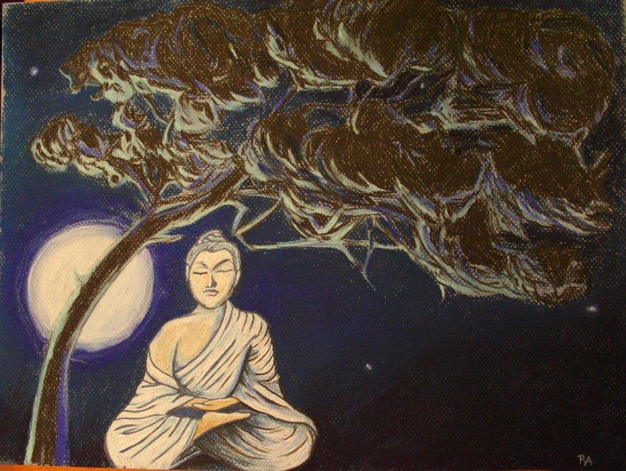 900x678 Buddha Under The Bodhi Tree By Isayreadordie