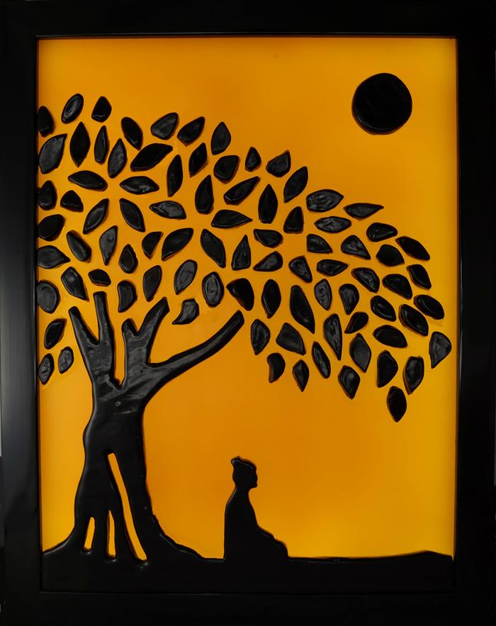 700x883 Painting Of Buddha Under The Bodhi Tree