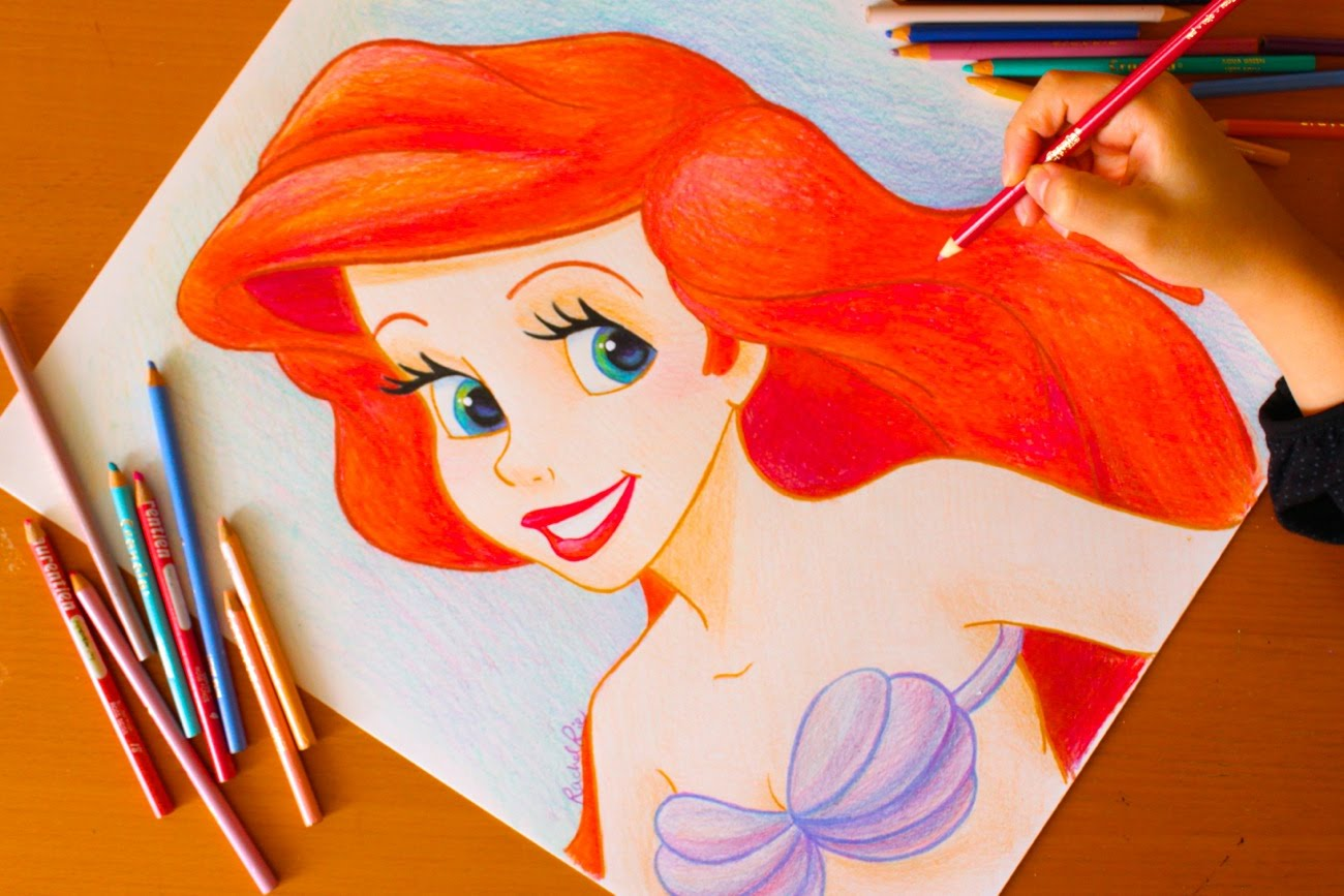 1300x867 Drawing Princess Ariel Little Mermaid Budget Art