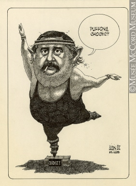 282x385 M985.221.147 Jacques Parizeau Budget Drawing, Cartoon