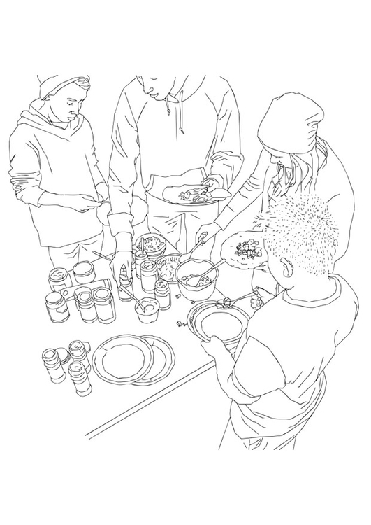 531x750 Coloring Page Buffet