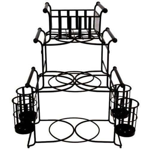 500x500 Giftburg 7 Piece Stackable Stripe Buffet Caddy