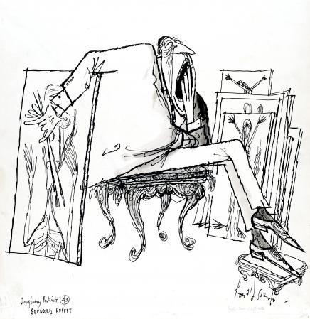 436x449 Ronald Searle Tribute Bernard Buffet Draw A Fine Line