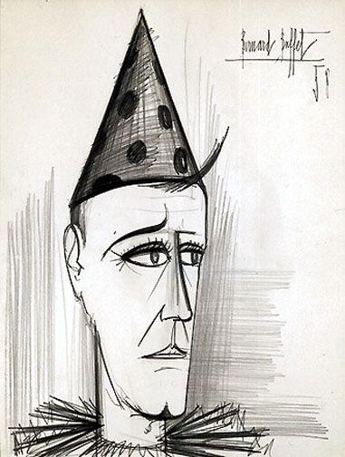 381x504 Bernard Buffet Clown, 1958