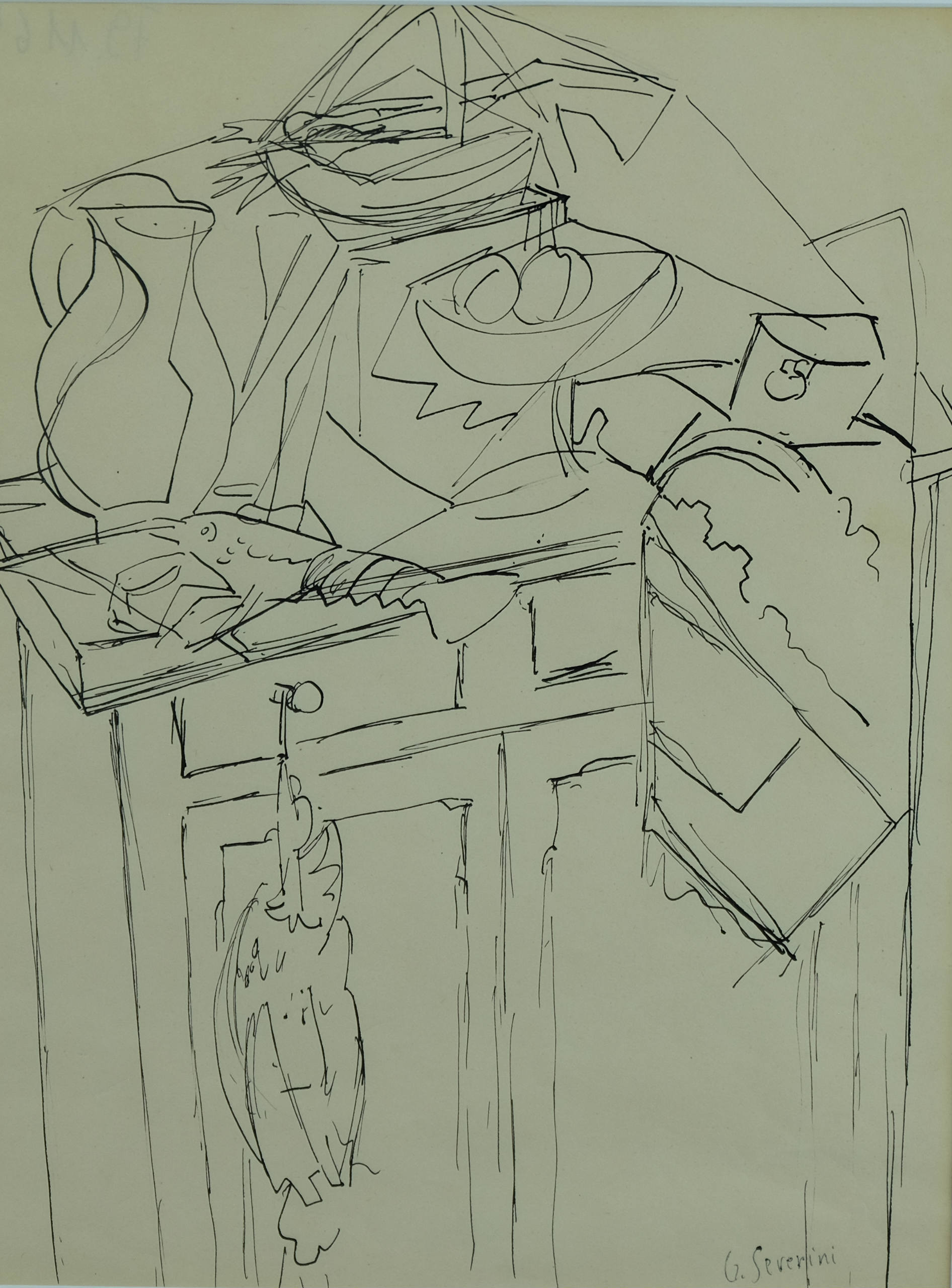 1892x2559 Le Buffet By Gino Severini, 1940 Drawing Artsper (229537)