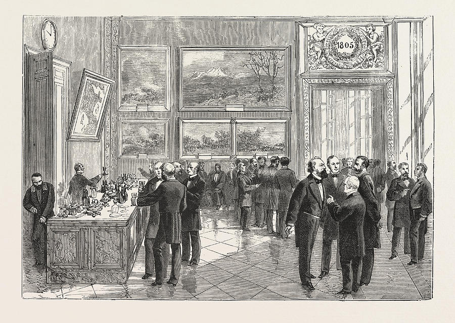 900x639 Refreshment Buffet Of The New Chamber Of Deputies Drawing By