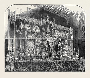 300x261 The Grand Buffet Drawing By English School