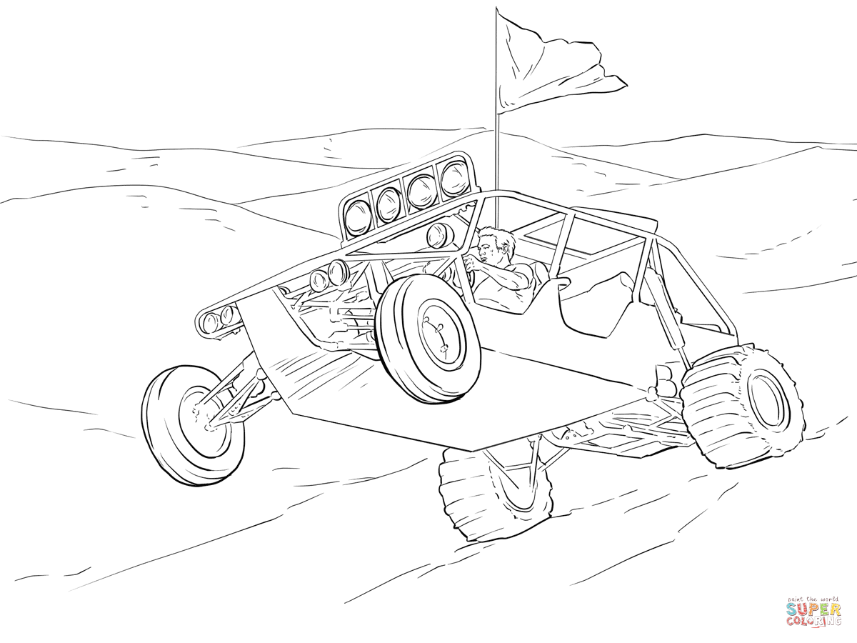 1200x900 Endorsed Dune Buggy Coloring Pages Page Free Printable