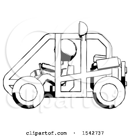 450x470 Ink Design Mascot Man Riding Sports Buggy Side View By Leo