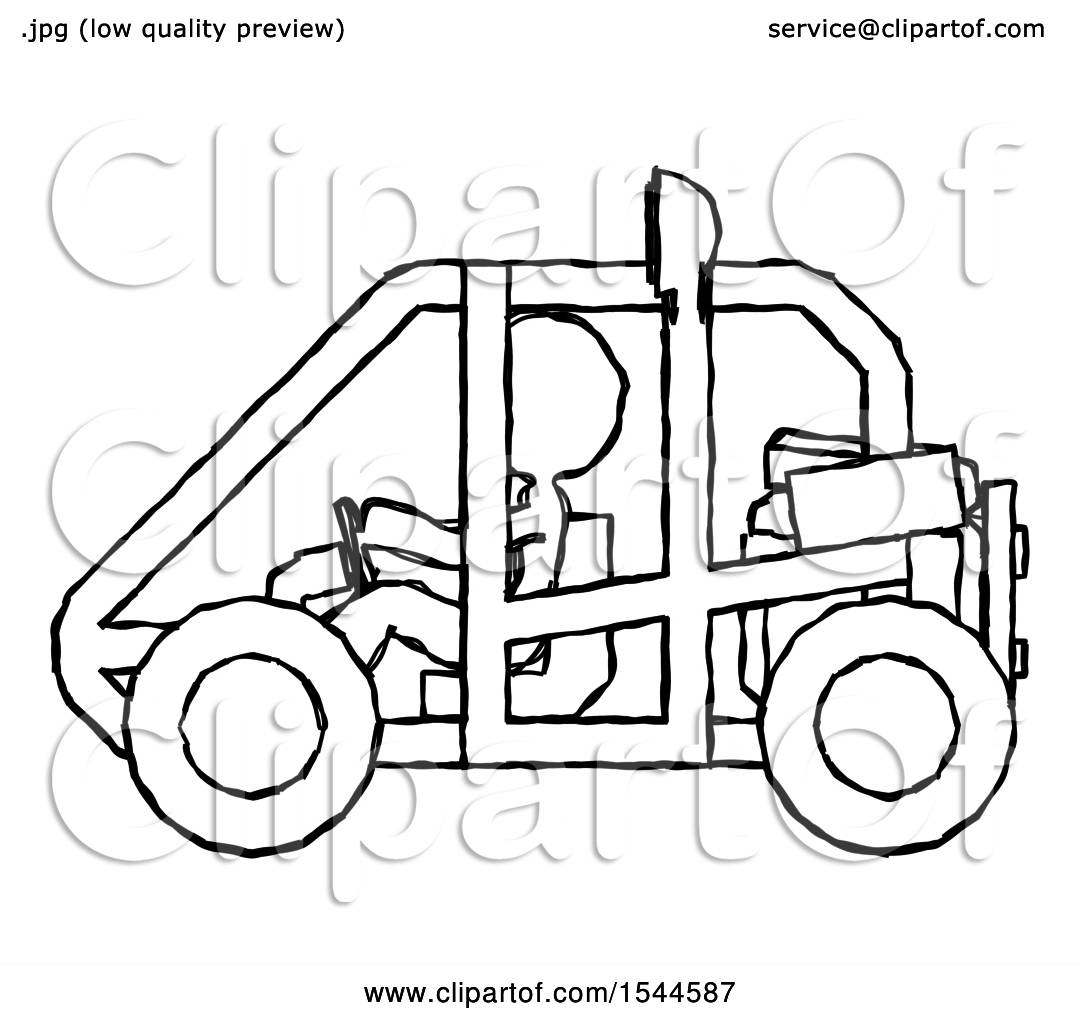 1080x1024 Sketch Design Mascot Woman Riding Sports Buggy Side View By Leo